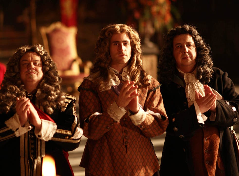 Bigwigs: Richard McCabe, Oliver Jackson Cohen and Richard Dixon in 'The Great Fire'