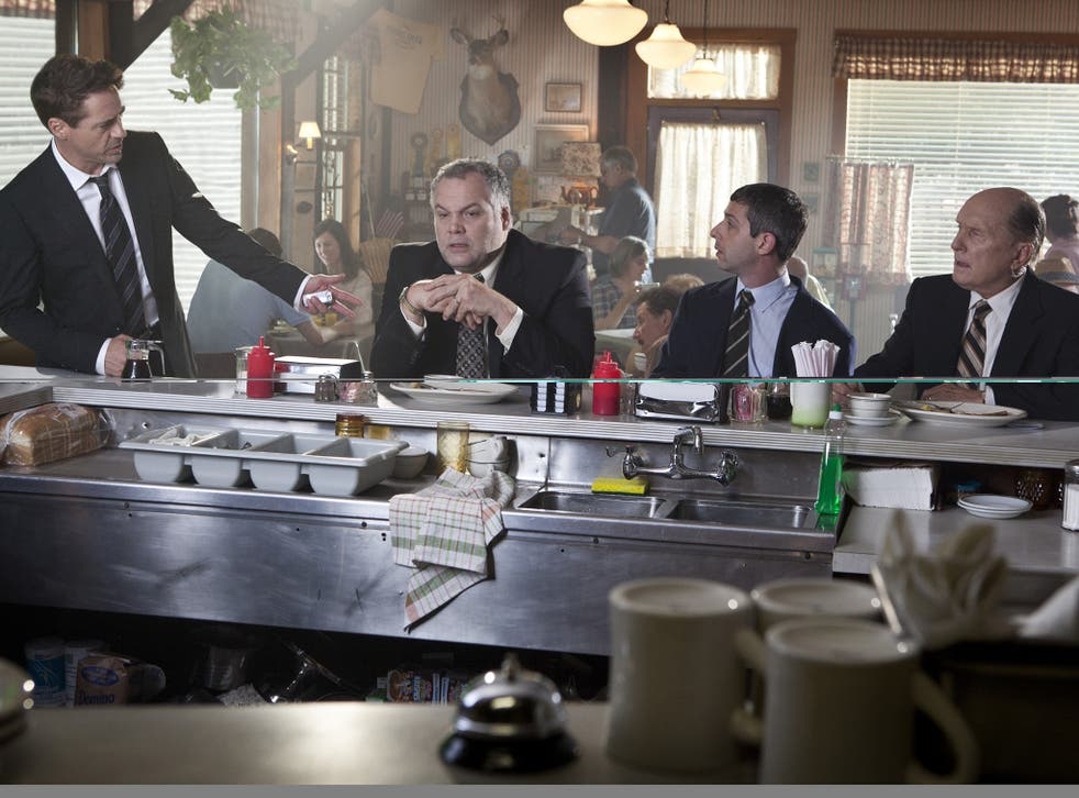Justice is served: Robert Downey Jr, Vincent D'Onofrio, Jeremy Strong and Robert Duvall in 'The Judge'