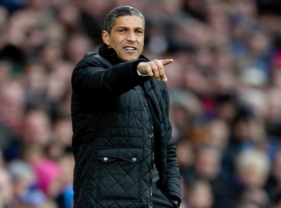Chris Hughton wants to make a rapid return to the dugout