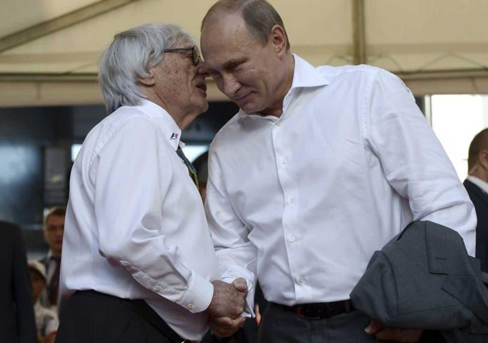F1 boss bernie ecclestone calls russian president vladimir putin a bernie ecclestone and vladimir putin greet at the grand prix m4hsunfo
