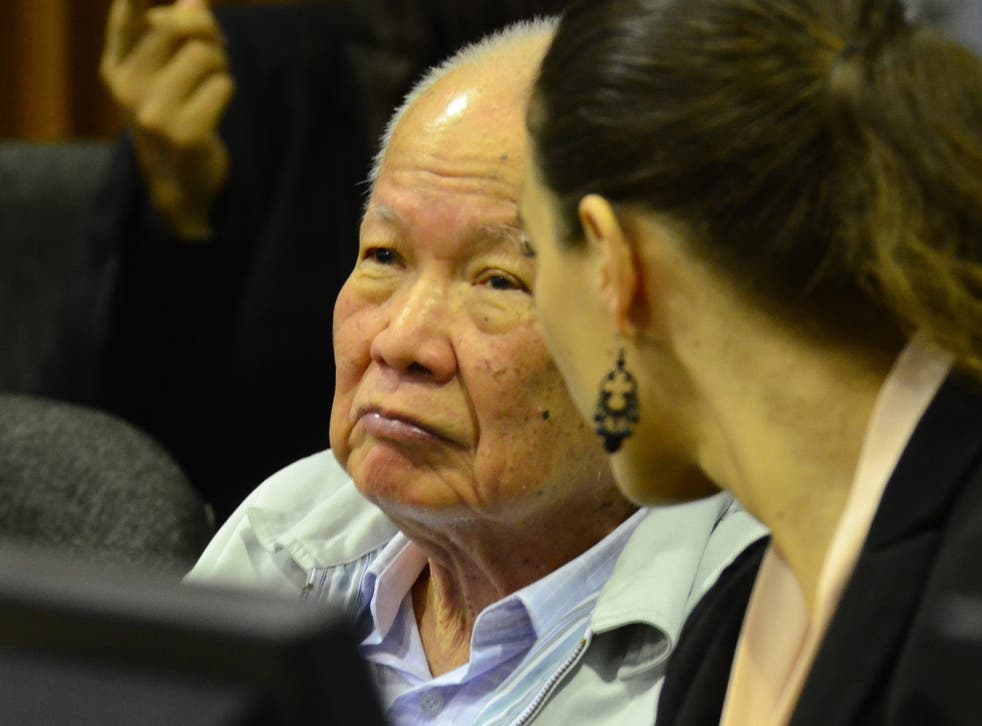 Khieu Samphan, the regime's head of state