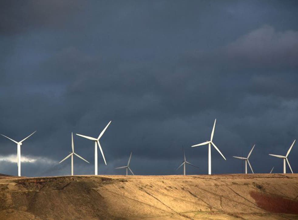 The Scout Moor wind farm in the South Pennines (Getty)