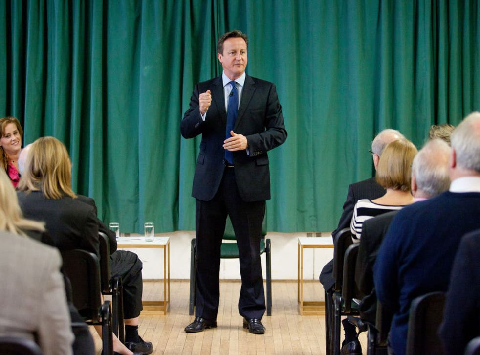 Prime Minister David Cameron introduces one of the Conservative Party's two applicant councillors, Kelly Tolhurst, far left, for her nomination in the upcoming Rochester and Strood by-election