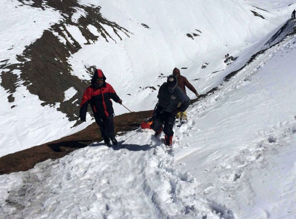 The Nepal Army continues to search for the missing climbers