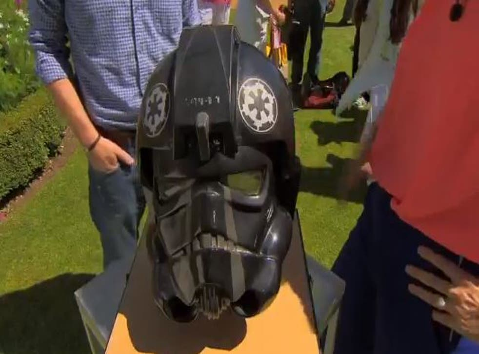 BBC's Antiques Roadshow uncovers a TIE fighter pilot helmet from the 1977 Star Wars film, valuing it at £50,000