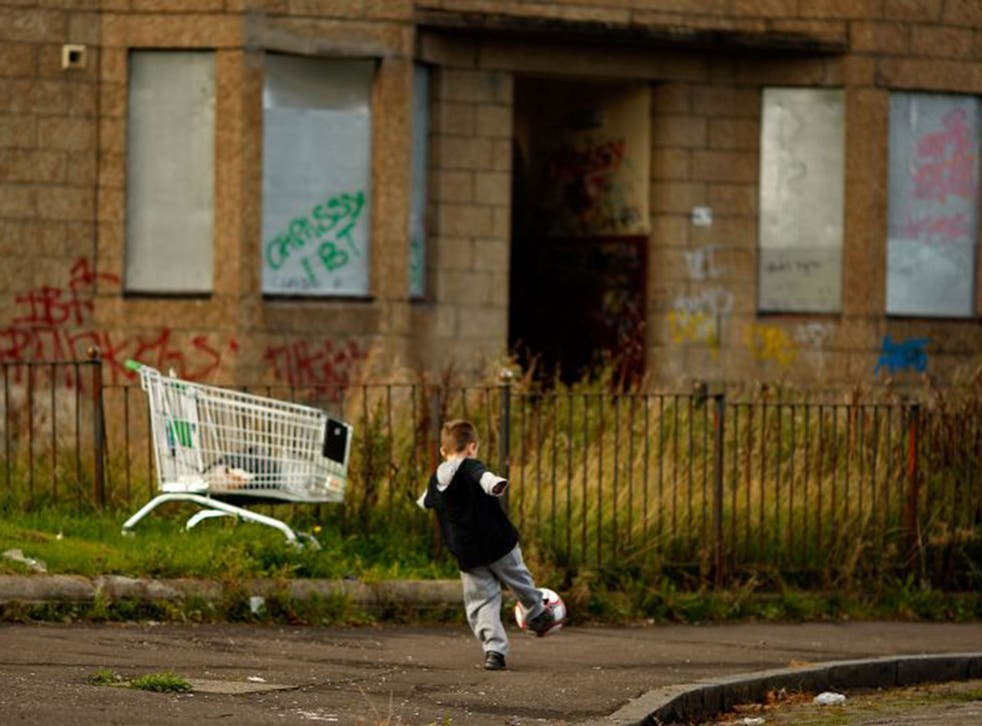 Estimates suggest that the number of children growing up in poor families will rise from 2.6m to 3.5m in 2020 (Getty)