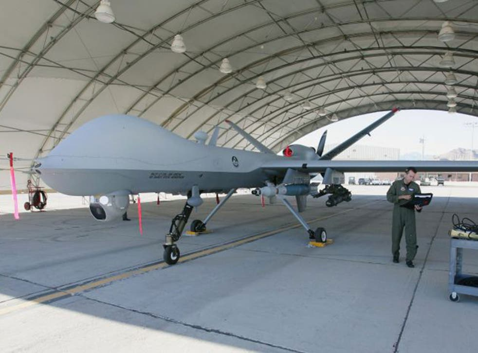 Britain's Reaper drones, similar to this US version, will be controlled from an RAF base in Lincolnshire