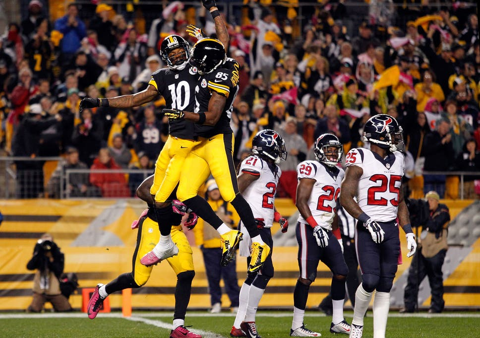 517ec0537ff Martavis Bryant celebrates after scoring a touchdown for the Steelers