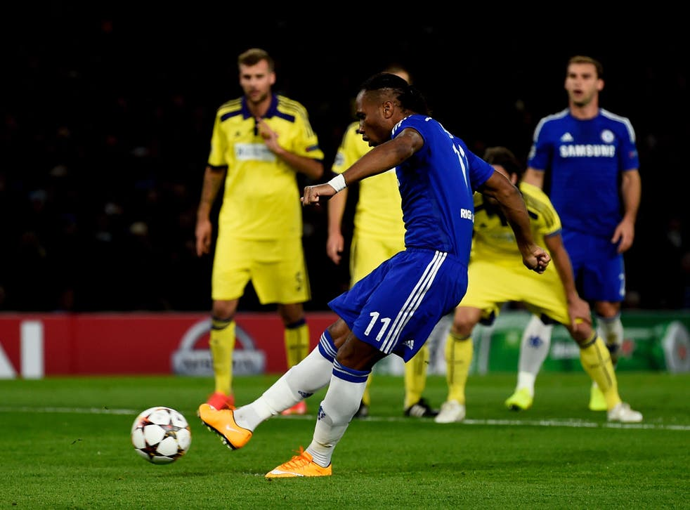 Didier Drogba fires in his 158th goal for Chelsea and his first since returning