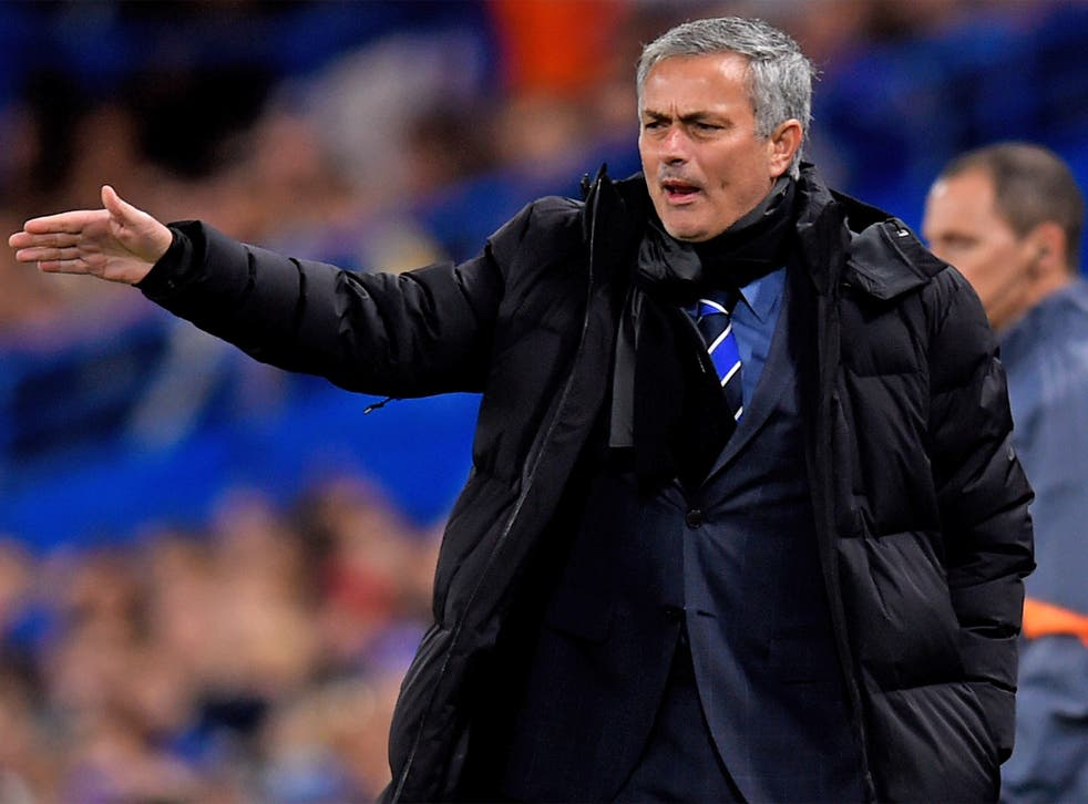 Jose Mourinho issues instructions to his players