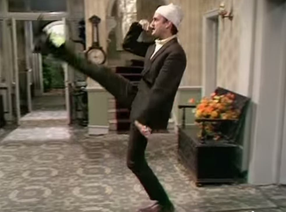 Cleese performs one of his best known sketches in Faulty Towers