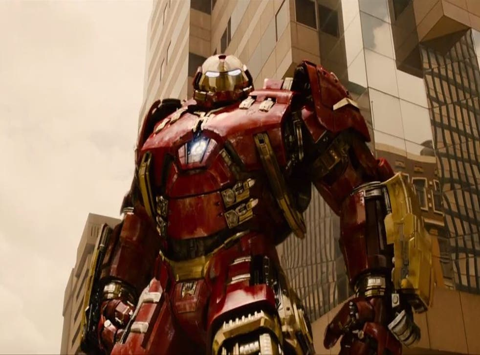 The Hulkbuster armour makes an appearance