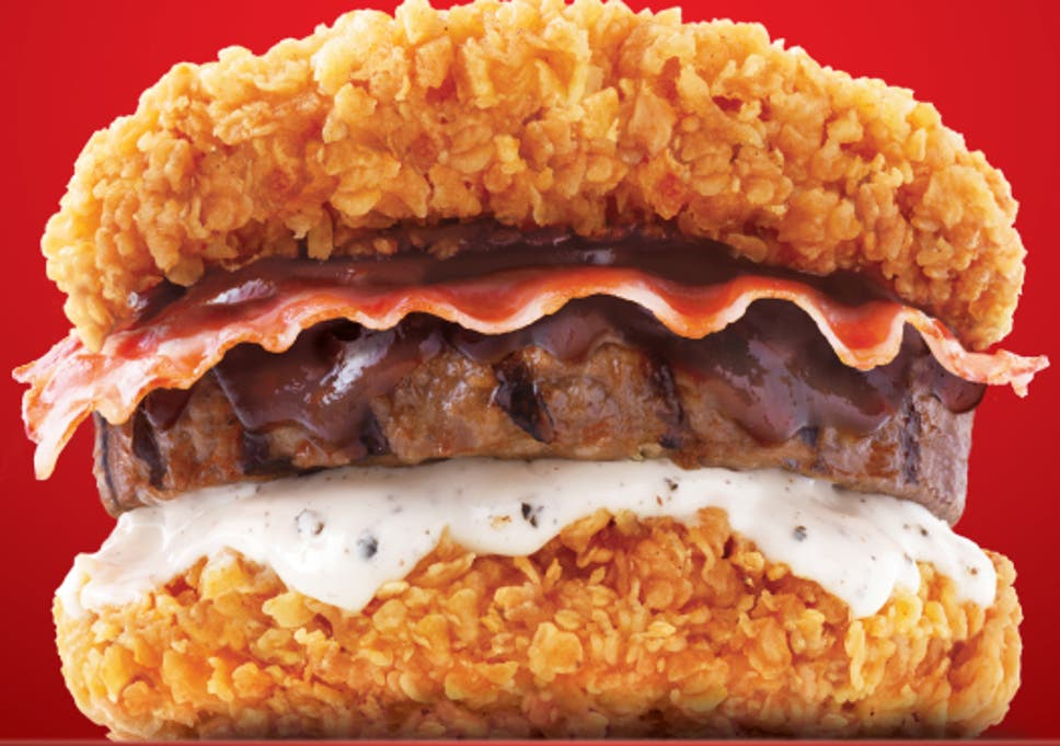 Kfc Unveils Breadless Meat Beast Burger With Fried Chicken Acting As