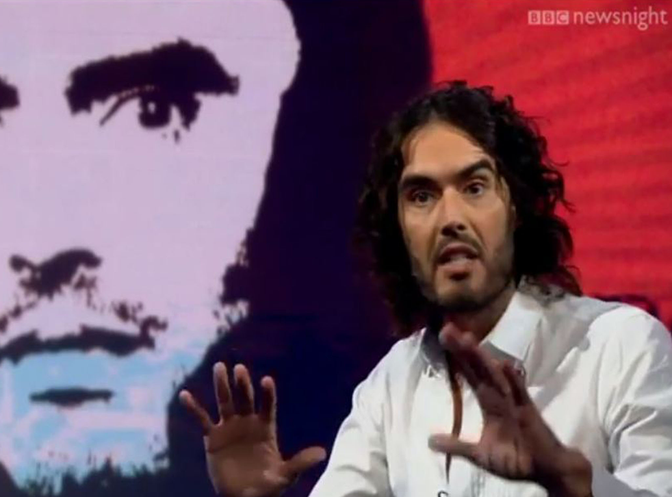 Russell Brand was in typically combative form during his promotional interview with Newsnight's Evan Davis