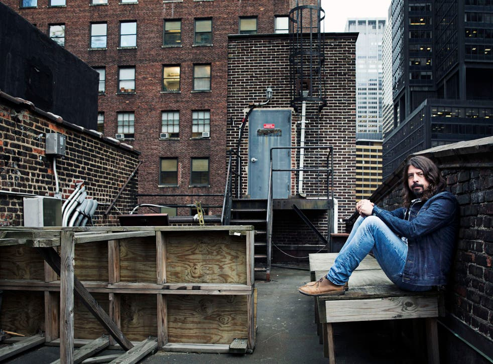 Top of the world: Dave Grohl in New York