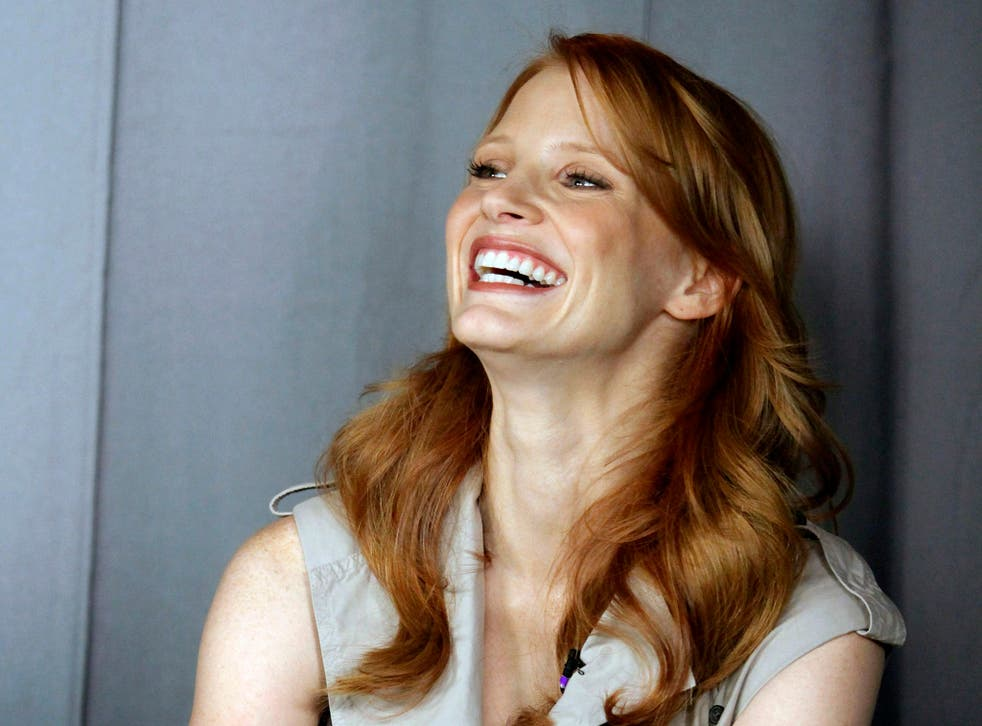 Jessica Chastain during an interview in Los Angeles.