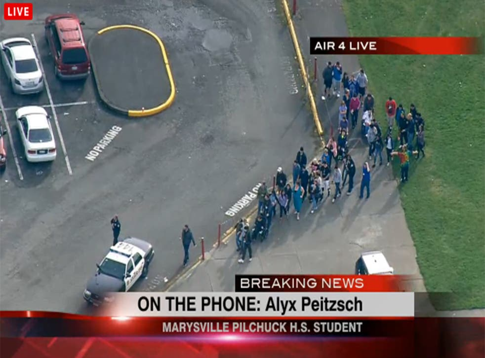 Students are evacuated from the school