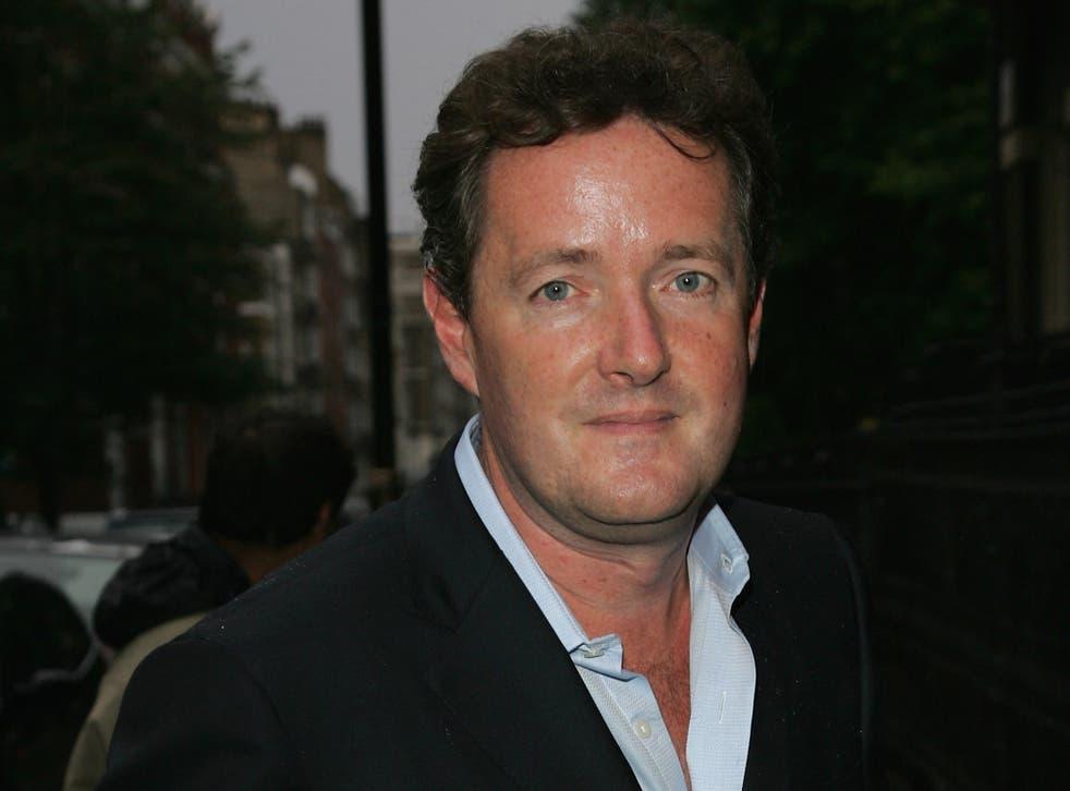 Former 'Daily Mirror' editor Piers Morgan