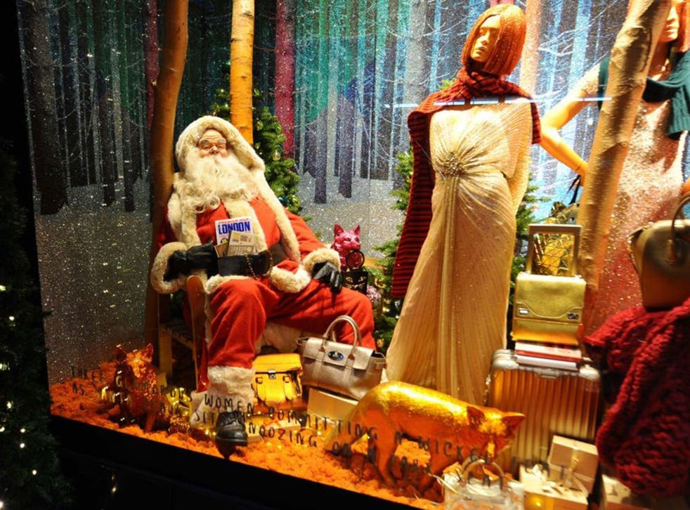 Welcome to tinsel town: retailers such as Selfridges will be Santa's little helpers this Christmas, working hard to persuade shoppers to stock up on gifts