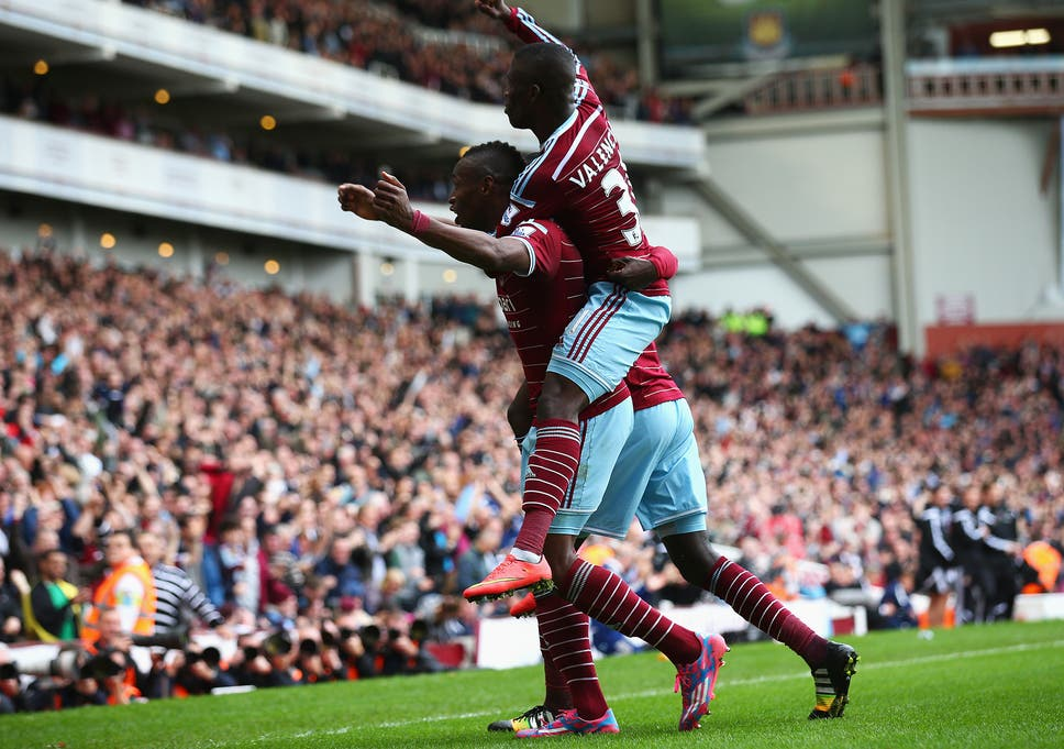 63191831ca Diafra Sakho celebrates his goal for West Ham in the 2-1 win over Manchester