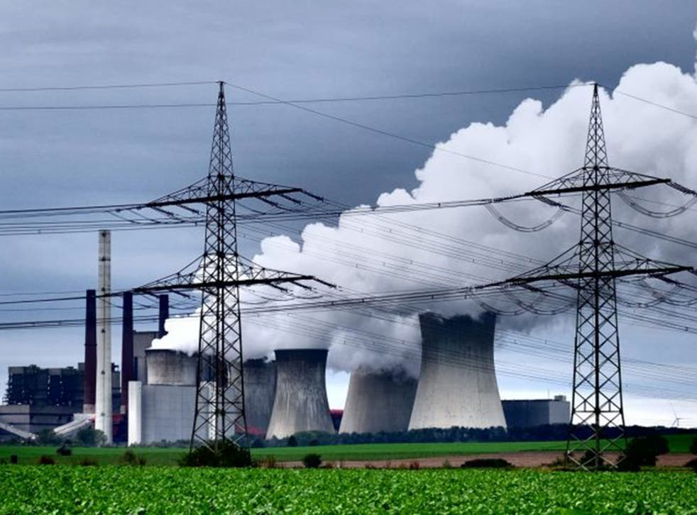 A coal-fuelled power plant in Germany, which supports carbon trading