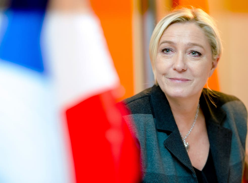 Marine Le Pen heads up the right-wing Front National Party in France