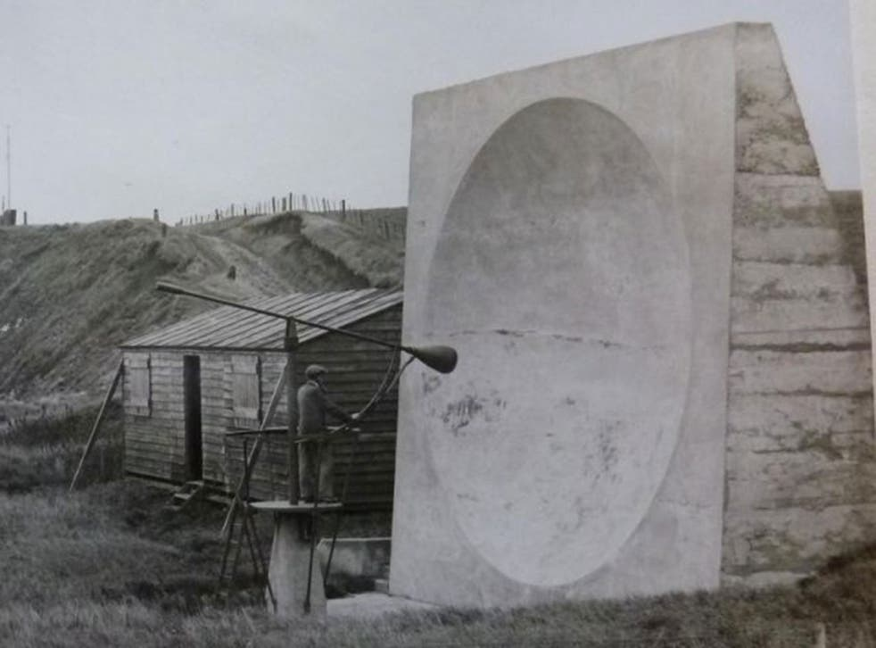 One of the sound mirrors in use at Abbots Cliff, near Dover's White Cliffs