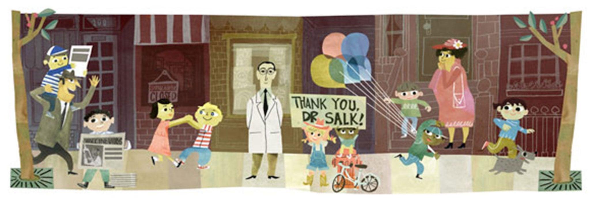 Jonas Salk 100th Birthday: Polio vaccine developer's extraordinary achievement celebrated with a Doodle