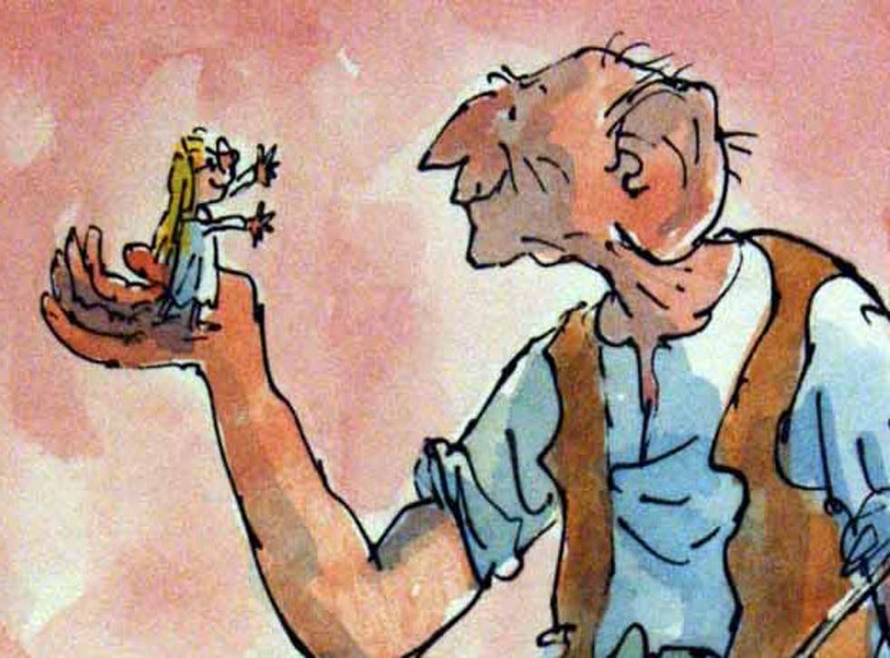 The BFG - Quentin Blake's illustration of the Dahl character and orphan Sophie