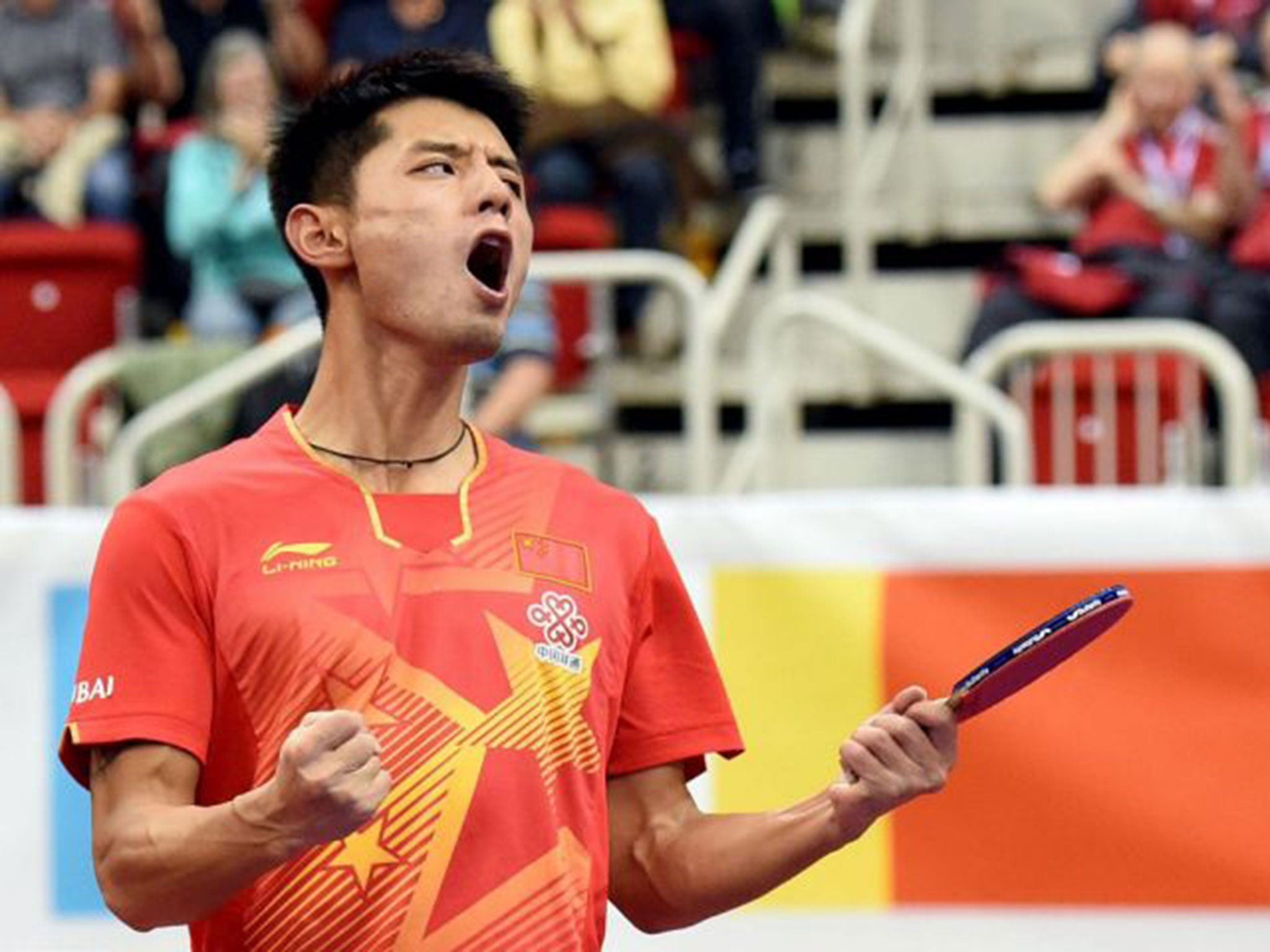 table tennis player zhang jike has 35 500 prize money