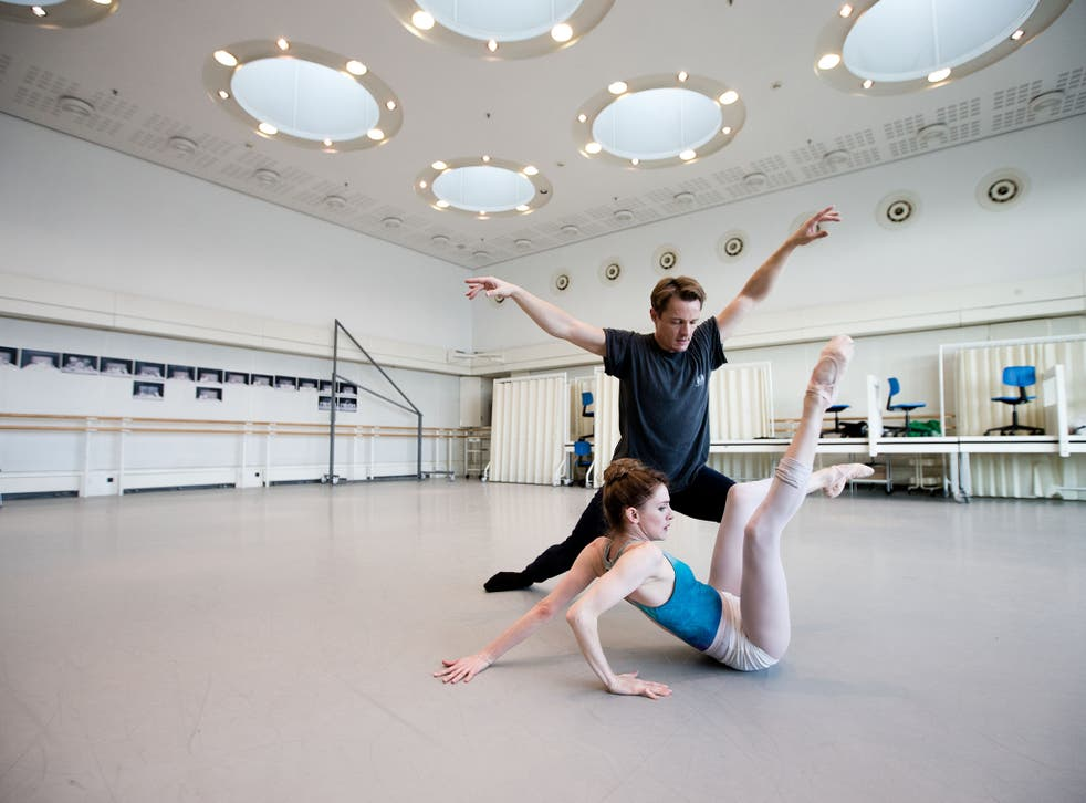 Prophet and loss: Olivia Cowley rehearses her title role in 'Cassandra' with Thomas Whitehead at the Royal Opera House