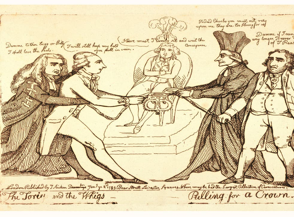 Tug of war: Whigs v Tories, 1789