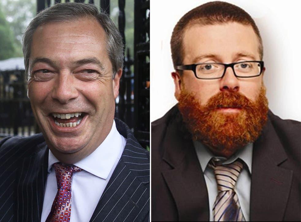 Mock the tweet: Ukip leader Nigel Farage and comedian Frankie Boyle
