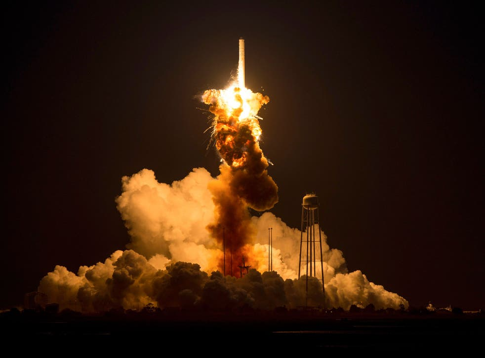 Nasa's Antares rocket exploded seconds after its launch in Virginia