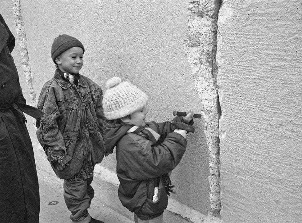 The birth rate in East Germany halved after the wall came down in 1989