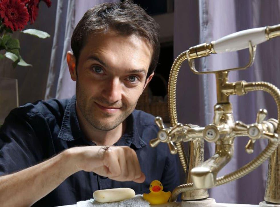 Creep show: Tim Cockerill in 'Spider House'
