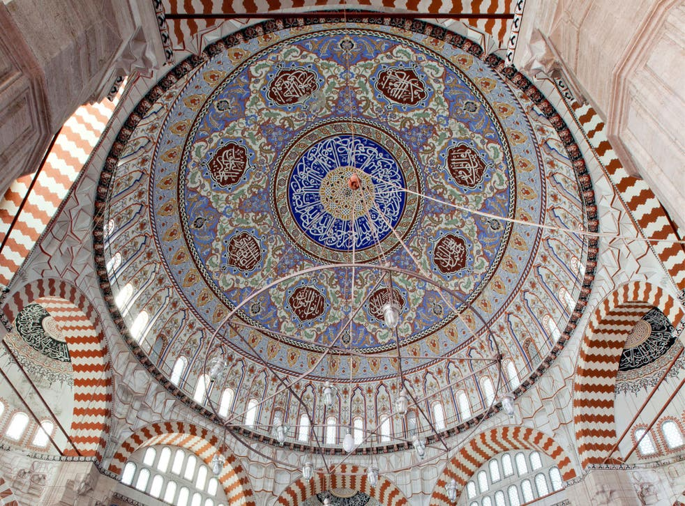 Entirely his own vault: Selimiye Mosque, in Turkey, built by Mimar Sinan, 1575