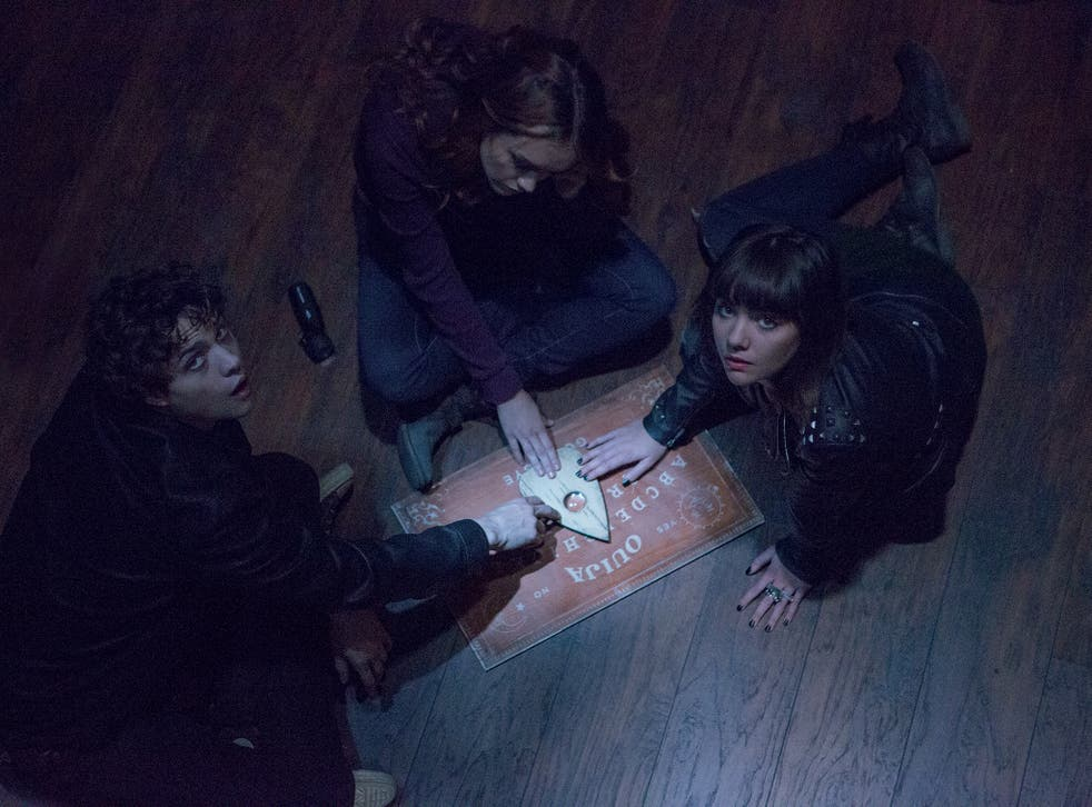 Board meeting: Douglas Smith, Olivia Cooke and Ana Coto in Ouija
