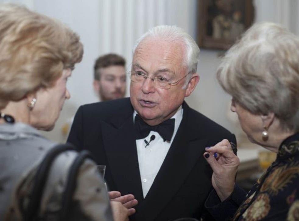 Fiona Woolf, left, ex-BBC newsreader Martyn Lewis and Lady Brittan