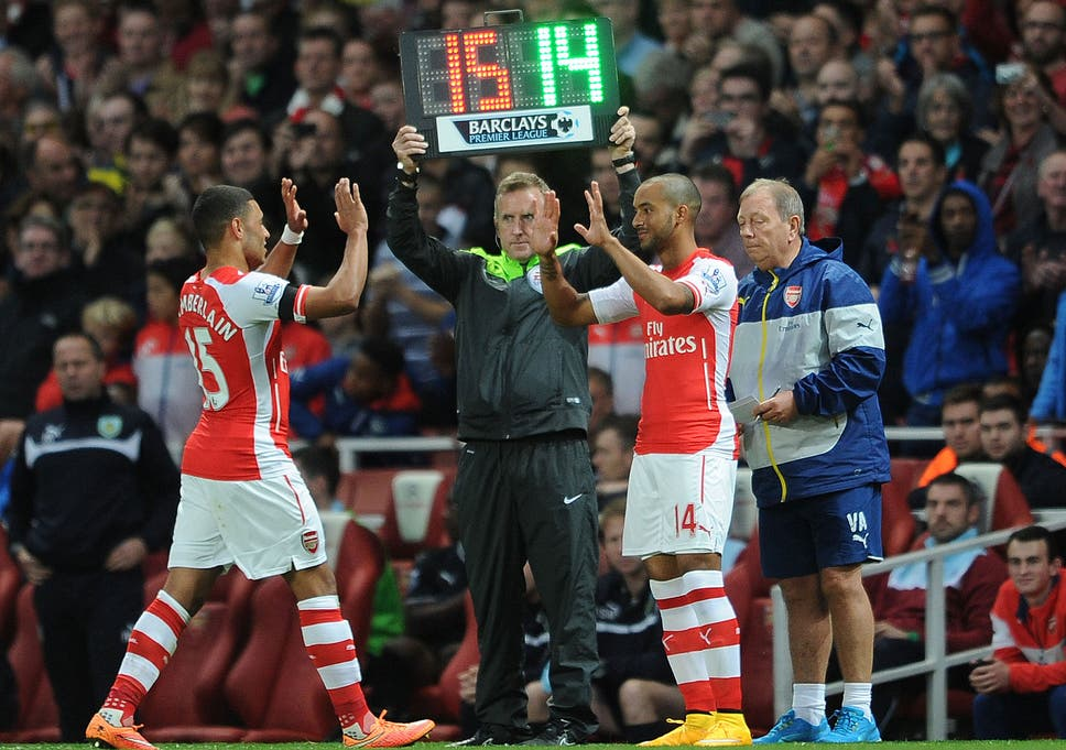 8cb197aa79702d Theo Walcott came on for Alex Oxlade-Chamberlain during the win over Burnley