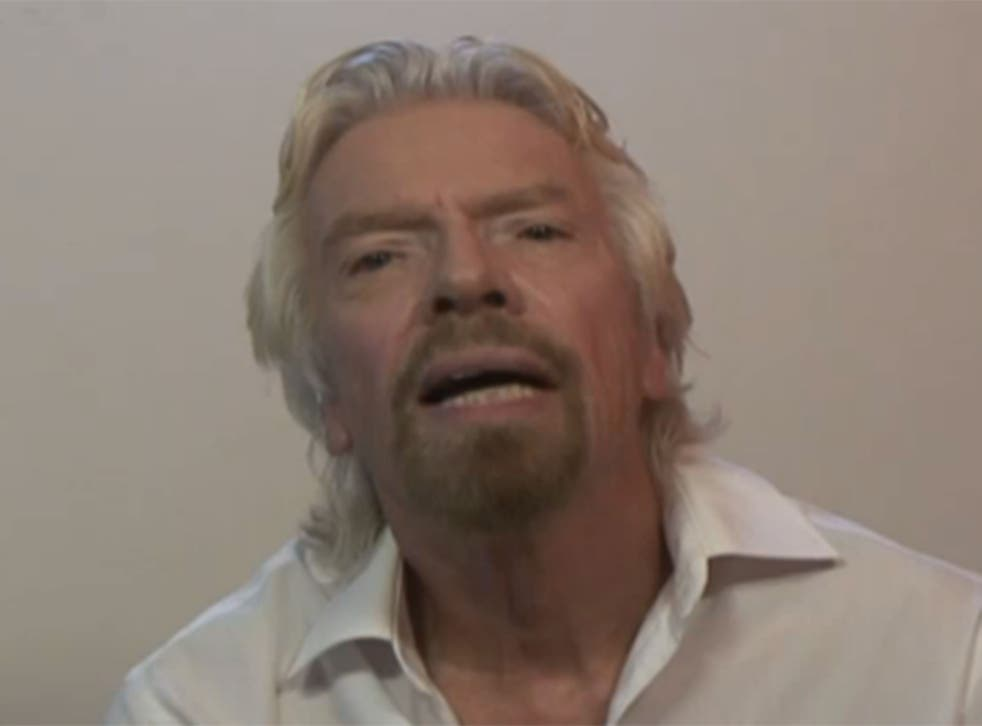 """Branson said the he found the newspaper reports over the weekend 'very uncomfortable"""""""
