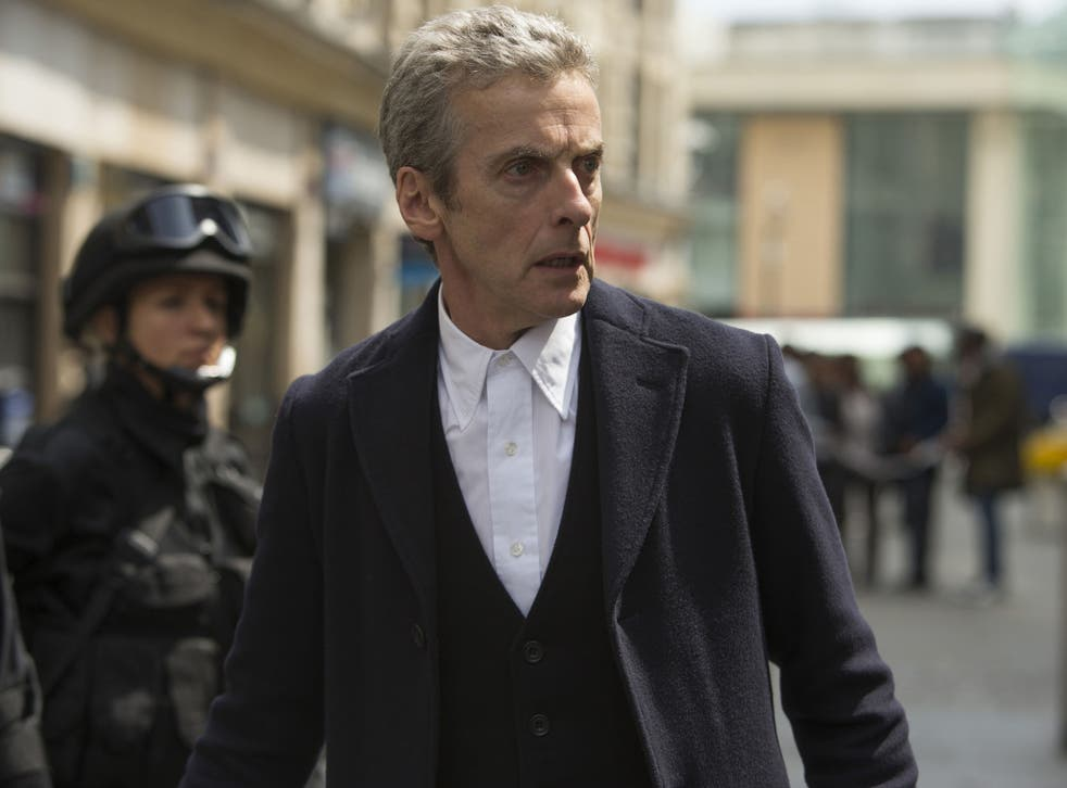 Peter Capaldi in the Doctor Who series 8 finale