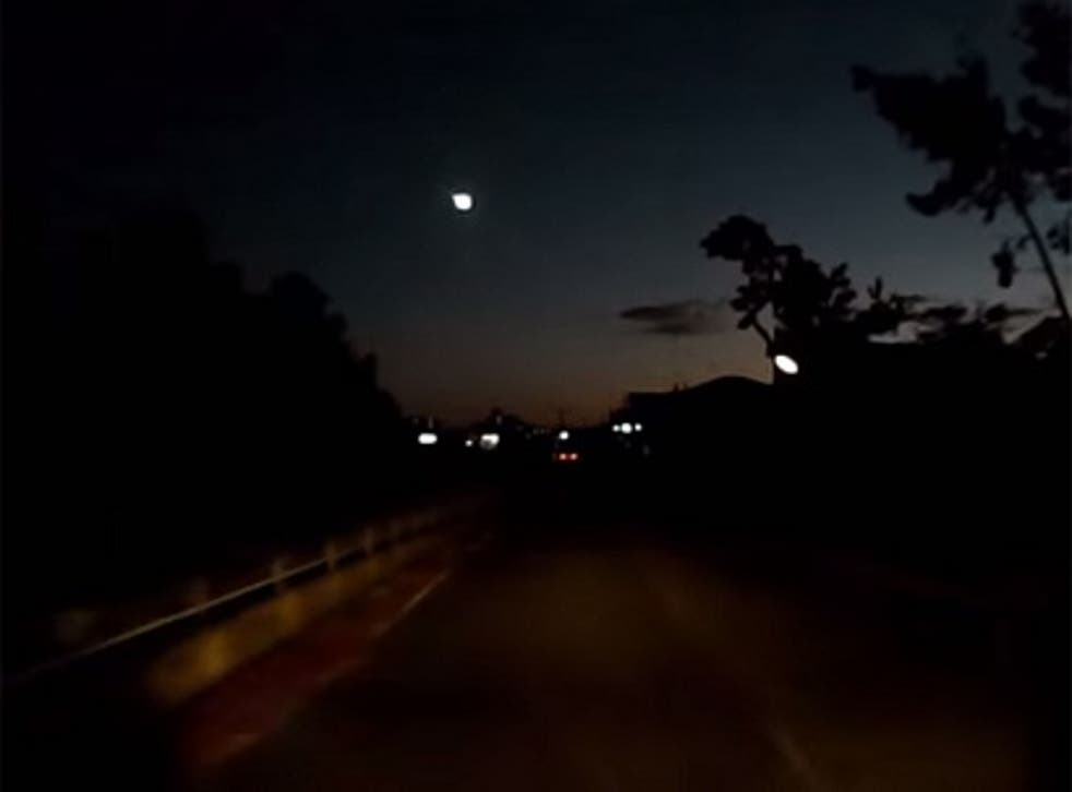 Fireball meteor lights up the sky in Japan.