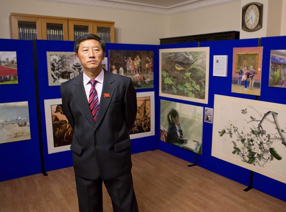 North Korean artist Kim Hun (Rick Findler)