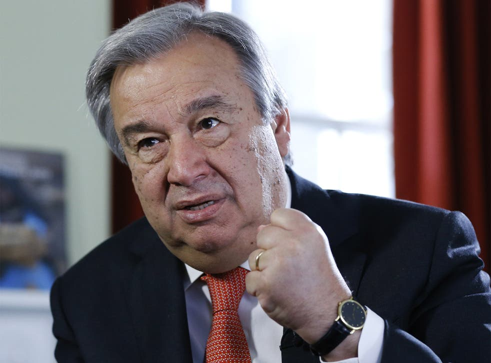 Antonio Guterres, the United Nations High Commissioner for Refugees