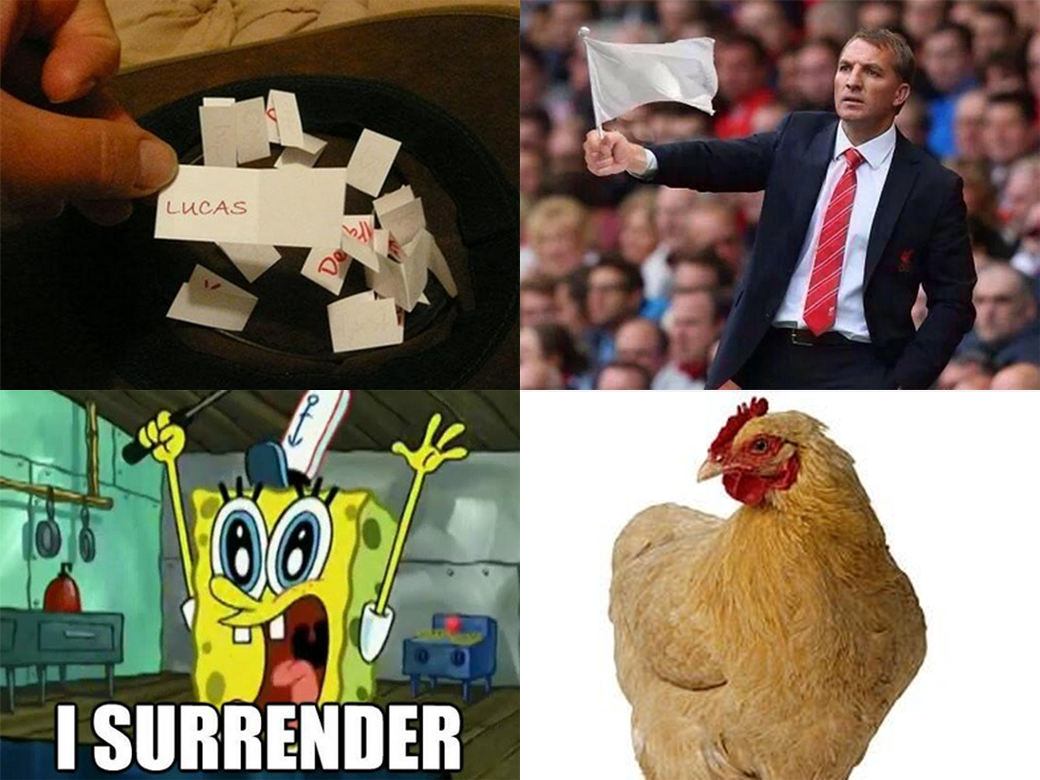 The best tweets and memes including from wife of dejan lovren after liverpool boss rodgers names gerrard balotelli and sterling on bench