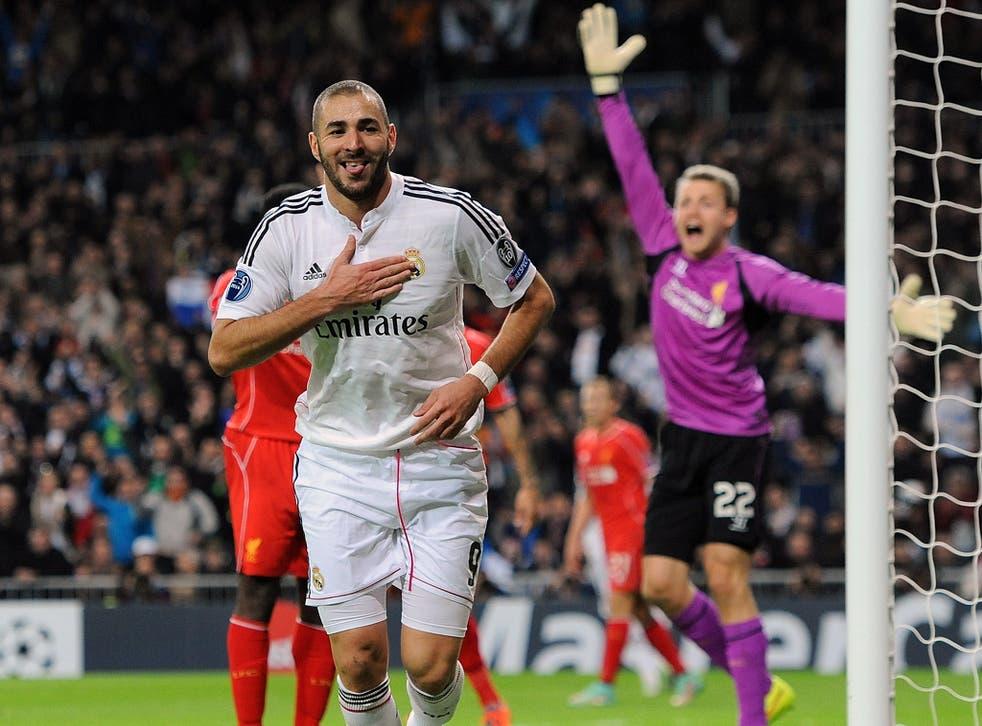 Karim Benzema celebrates the winning goal