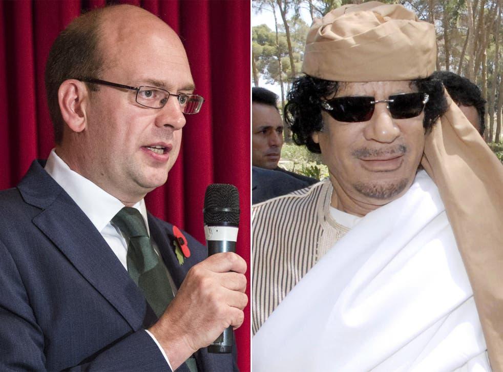 Ukip candidate Mark Reckless; former Libyan dictator Muammar Gaddafi