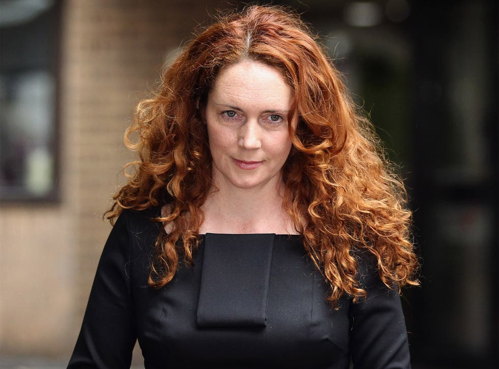 Rebekah Brooks, former chief executive of News International, at Southwark Crown Court in 2012; she was later cleared of making corrupt payments
