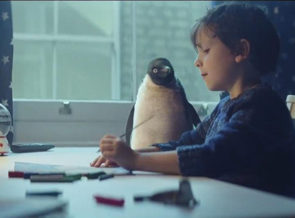Monty the Penguin features in the 2014 John Lewis Christmas advert